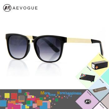 AEVOGUE with Original case Retro Unisex Super black brand sunglasses men Golden Glasses ...