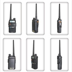 5 Watts handheld dual band dual display amateur two way radio BAOFENG UV-5R portable walkie talkie(China (Mainland))