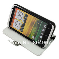 Free SG PosT Shipping 100% Genuine Leather Flip Wallet Case for HTC ONE X S720e