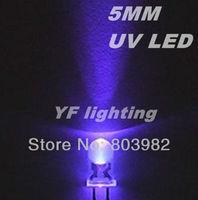 (Square chip)Purple 5MM LED diode UV 395-410NM ultraviolet DIP LED 3-0-3.5V