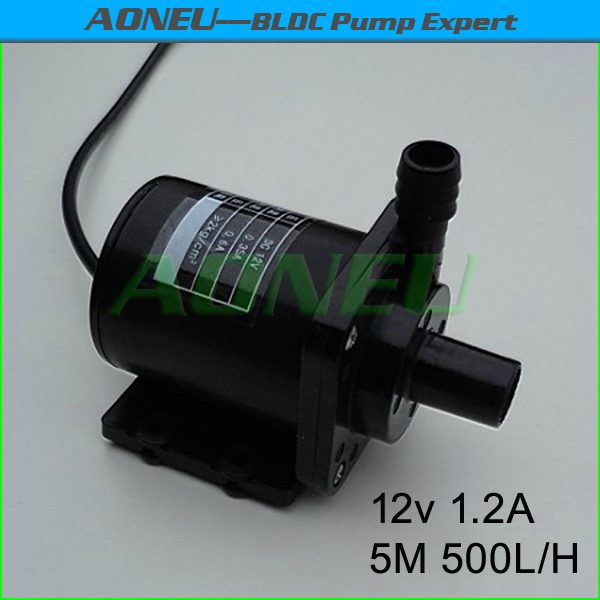 AN40-1250, 500LPH 12V Brushless DC Mini water Pump For CPU Cooling/Solar Fountain/Garden Water feature/Aquarium, Ceramic Shaft(China (Mainland))