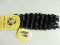 """free shippingsynthetic hair weave  curly synthetic synthetic braiding hair miss rola deep wave 100g 18""""1# 5pcs"""