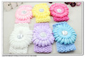 24 pcs per lot 6 colors cute sunflower baby kids infant Crochet Headbands & elastic hairbands H5078 FREE SHIPPING