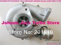 NEW GT2056V/767720-5004S 14411-EB70A/B/C Turbocharger for NISSAN D40 Navara,Pathfinder 2.5DI,Engine:YD25DDTi 2.5L 171HP 2006-