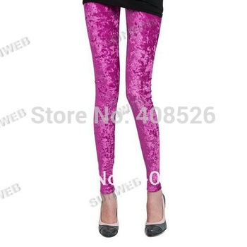 Fashion Women's Diamond Velvet Sexy Soft Stretch Leggings Slim Fit Pants Sheer 5 colors free shipping 5221