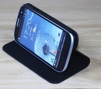 Leather stand case for i9300 Galaxy S3 ,Stand case for i9300 cover 10pcs/lot Clearance!