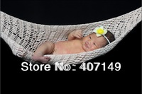 Free shipping,crochet  newborn hammock,sleeping bag,baby shower gift,baby photography props,newborn photograph props,cocoon