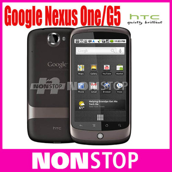 G5 Original HTC Google Nexus One G5+ Android+3G+5MP+GPS+WIFI+3.7''TouchScreen+Unlocked Mobile Phone+In Stock