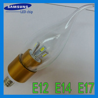 Chandelier led crystal lamp light bulb use Samsung chip 5630 E12 E14 base SMD 20pcs/lot +DHL/Fedex free shipping