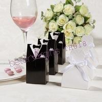 96pcs=48pair Wedding Dress and Tuxedo Favor Boxes TH018 unique Wedding Souvenir wholesale@BeterWedding
