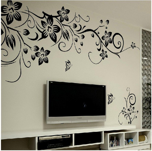 Stylish home improvement personality bedroom, living room TV backdrop stickers, free shipping,J144(China (Mainland))