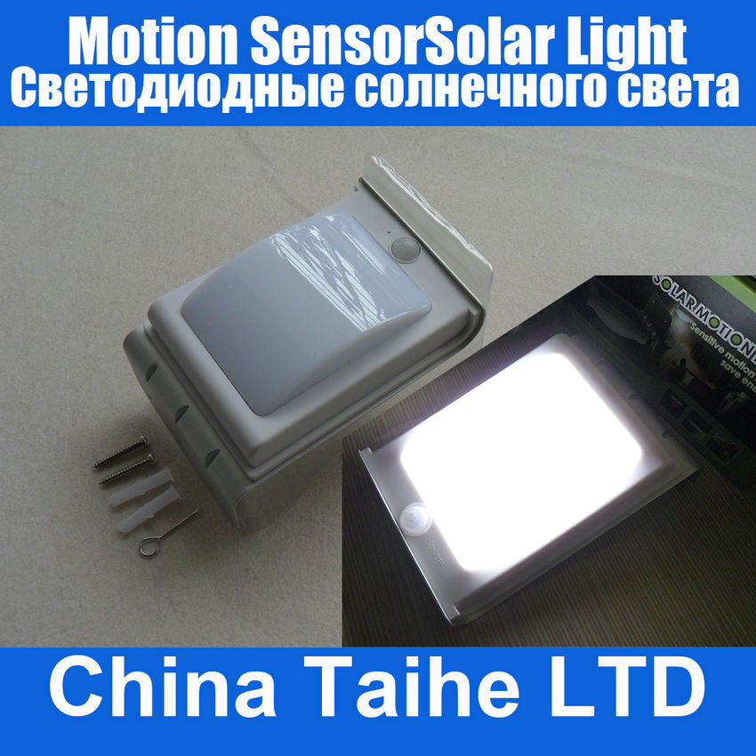 Home Outdoor Motion Sensor Solar Power Wall Camping Light Lamp 16LED 3 Model Bright/DIM/Dark(China (Mainland))