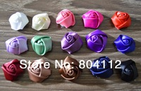 Satin Ribbon Roses for Handcraft Hair Flower Garment Decorate Accessory - 20mm
