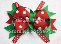 Free shipping baby hair clips  Christmas ribbon hair barrettes newest  Hair Bow Christmas grils hair accessories