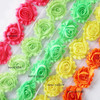 2.5&quot; frayed chiffon shabby flower 75 yards(52 colors for selection)FREE SHIPPING BY DHL---US LIST(China (Mainland))