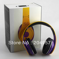 Hot selling Kobe Studio No.24 hd headphones noise cancelling headphones Computer dj headset EMS/DHL Free shipping