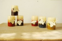 Home Decorative Scented Candle Favors Large Flameless Candles Personalized Return Gifts  a set of there pieces