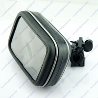 "Waterproof GPS Phone SatNav Case Motorcycle Bike Handlebar Mount Holder 4.3"" Free Shipping"