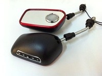 Free shipping(2 sets)+Motorcycle MP3 Rear-view Mirror with Alarm Functions