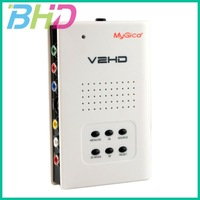 New YPbPr V2HD Video AV HD HDMI Converter Upconverter1080P Component Composite S-video to HDMI Adapter +Free shipping