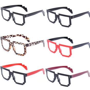 Drop Shipping 2014 New 8-Bit Women Clear Lens Glasses Pixelated Computer Nerd Geek Gamer Gafas Oculos Eyeglasses Accessories