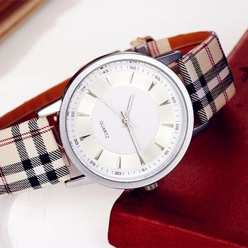 Новое Fashionmontre роковой плед кожаный ремешок часы relogio masculino кварцевые часы мужчин и женские часы платье женщи часы