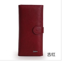 Genuine First Layer Cow Leather Wallet  for women cowhide purse Small  Leather bags in many colors Free Shipping