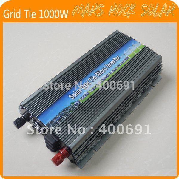 Grid Tie 1000W Pure Sine Wave Solar Inverter for 18V 1250W PV Power, 10.5V~28VDC, 90V-140V/180V~260VAC, 50Hz-60Hz, Free shipping(China (Mainland))