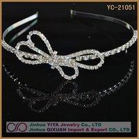 Free Shipping New Stylish Pretty Silver Crystal Rhinestone Girl Hair Hoop Free Shipping Girl Hair Hoop  Customized