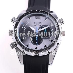 4GB 8GB 16GB 1080P High Resolution Waterproof Watch DVR with IR Night Vision HD Hidden Watch Camera Elegant Wrist Sport Watch(China (Mainland))