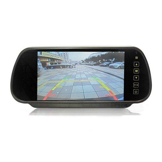 7 inch TFT LCD Color Screen Car Monitor rearview camera VCR(China (Mainland))