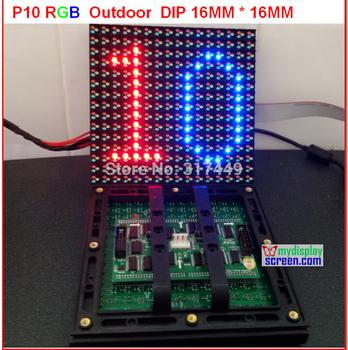 P10 led module rgb  Sanan chip + sunmoon ic + 6500 nits brightness + assemble led outdoor tv  hd display full color p10 module