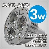 3pcs/lot  3w Led Bulb Spot Light  GU10 Dimmable 220V  Warm White  Led Bulb  Energy Saving
