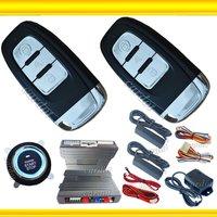 passive car alarm system is with 2pcs metal smart keys,long distace remote start/stop,handbrake checking,push button start/stop