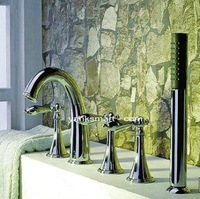 Luxury 5 piece Set Faucet Bathroom Mixer Deck Mounted Tap CM0533