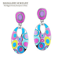 Neoglory Enamel Colorful Drop Dangle Earrings for Women Vintage Fashion Beach Party Jewelry Accessories Brand 2014 New ENA1