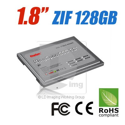 "KingSpec 128GB 1.8"" ZIF SSD Solid State Disk For PC D420 XT 2710P TZ37(China (Mainland))"