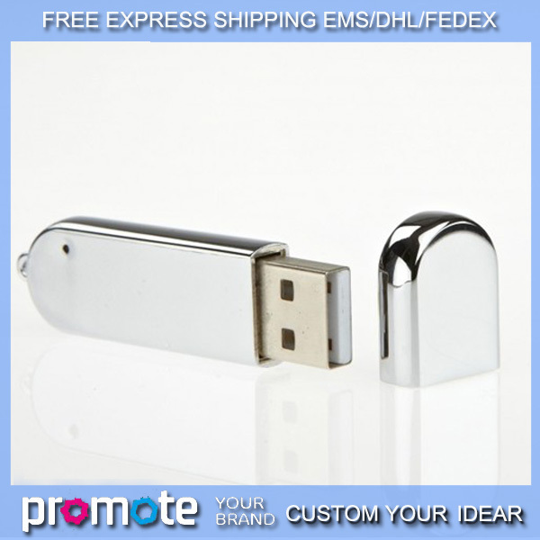 free EMS/DHL 30pcs/lot oval USB Memory stick 1GB 2GB 4GB 8GB 16GB Free laser engraved elliptical flash drive pendrive ( silver)(China (Mainland))