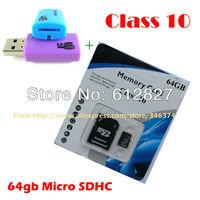 Top Quality 64GB 32GB 16GB MICRO SD CARD CLASS 10 MICROSD HC MICROSDHC TF FLASH MEMORY CARD REAL 32 GB 64 GB WITH SD ADAPTER