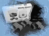 Whisky Stones, 9pcs/set 50set with delicate box+velvet bag whiskey rock stone,beer stone