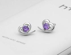 Factory Price / 2012 New Arrive 925 Sterling Silver Stud Earrings.Fashion 925 Silver Earring.Silver Jewelry.Free Shipping(China (Mainland))