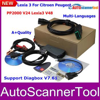 2014 Newest A+Quliaty Lexia 3 Citroen Peugeot Professional Diagnostic Tool PP2000 V24  Lexia3 V48 Support New Diagbox (7.36)Now