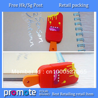 Free shipping 10pcs/lot high speed red ice-lolly usb sticks 1GB 2GB 4GB 8GB 16GB Popsicle usb 2.0 flash drive pendrive ( red )