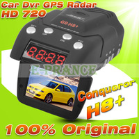 100% Original Conqueror GR-H8+ GRH8 Anti Radar Detector Russian+Car DVR Camera HD 720P+GPS+G-sensor+Russian Menu Voice