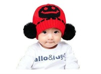 Free shipping Lovely chliaren Smiling Face hats