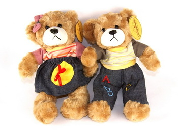Free Shipping  hot sale Couple Teddy Bear doll toy