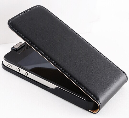 New ! Retro Real Leather Case for iPhone 4 4S 4G / 5 5S 5G Luxury Vertical Magnetic Flip Phone Accessories Cover 4sLcase ac934(China (Mainland))