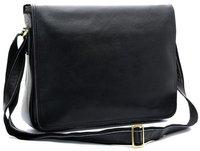 Free Shipping TIDING Hot Sale Men Messenger Cowhide Leather Casual Shoulder Briefcase Black  1047
