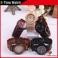 Fashion Wooden Wristwatch Men Women Wood Dress Watches Calendar Environment-friendly Natural Wood Quartz Watch