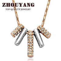Top Quality ZYN078 String of Happiness 18K Gold Plated Pendant Necklace Jewelry Austrian Crystal  Wholesale